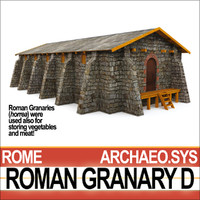 ancient roman granary d 3d model
