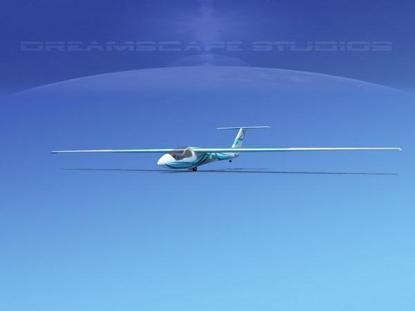 glider szd-22 mucha gliding 3d max
