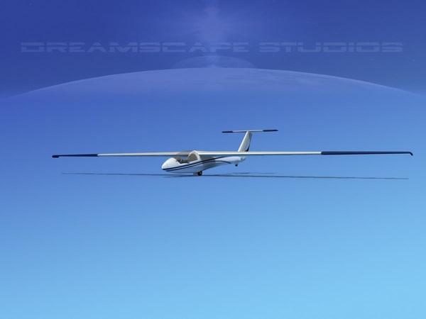glider szd-22 mucha gliding 3d dxf