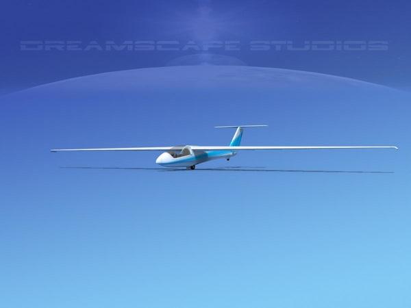 glider szd-22 mucha gliding 3d model