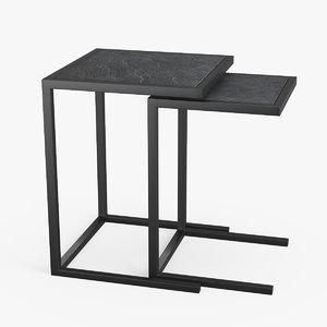 3d model proximity nesting tables