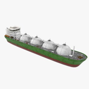lng carrier 3d model