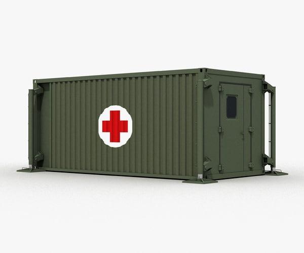 mobile hospital 3d obj