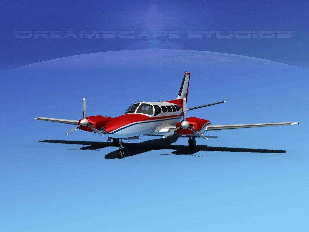 3ds propellers cessna 404 titan