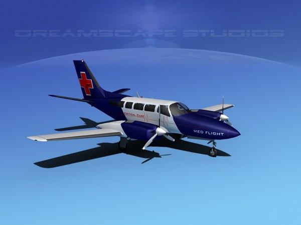 propellers cessna 404 titan 3d model
