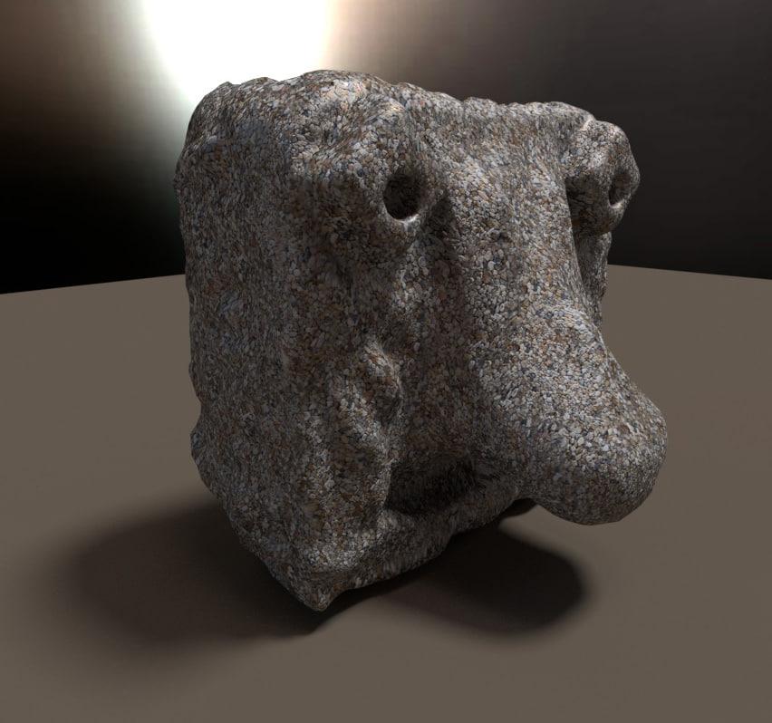 statue god big nose blend