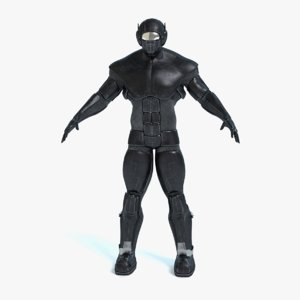 male futuristic soldier 3d model