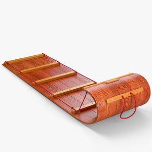 classic wood toboggan max