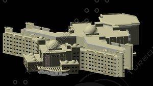 islamic modern building 3d model