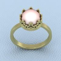 ring pearl 3d 3dm