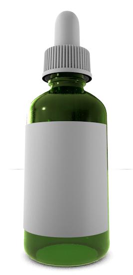 3d 3ds glass dropper green