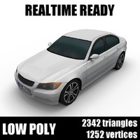 Generic low poly sedan car 001