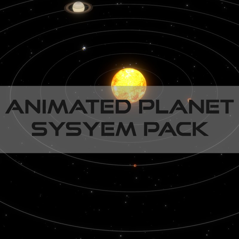 3d model pack planets animation