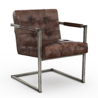 RESTORATION HARDWARE MILANO TUFTED CHAIR MOLASSES