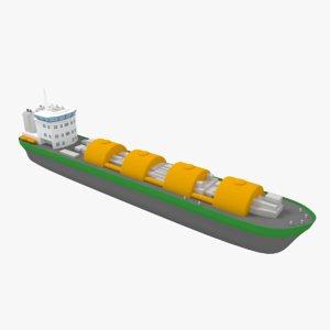 lng ship liquefied obj