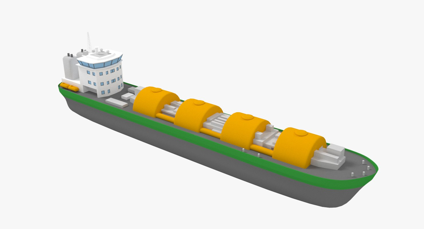 lng ship liquefied obj