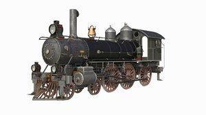 3d steam locomotive