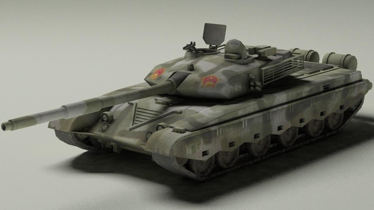 type 99 ztz-99 3d max
