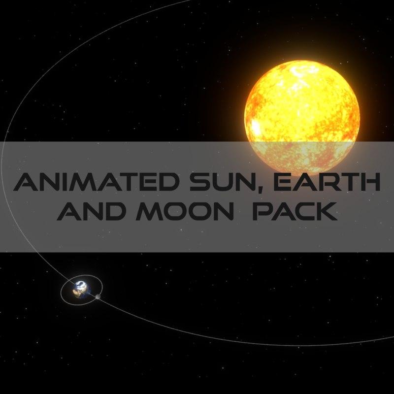 obj pack sun earth moon