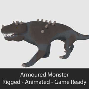 3d armoured monster - ready