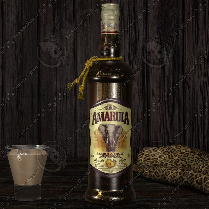 photorealistic amarula bottle resolution 3d 3ds