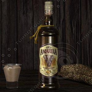 photorealistic amarula bottle resolution 3d 3ds