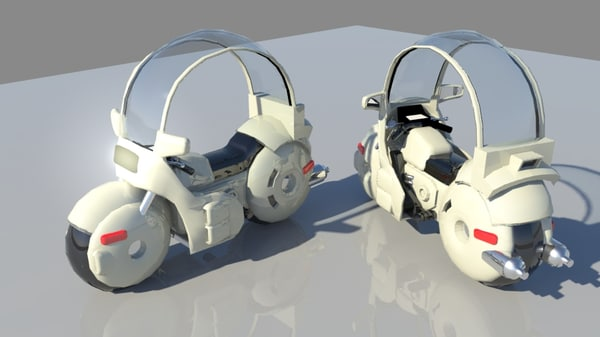 3d motorcycle dragonball model