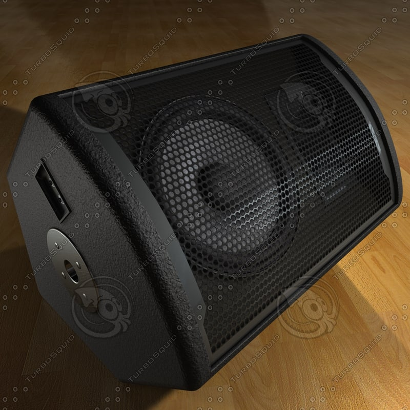 stage monitor - speaker 3d model