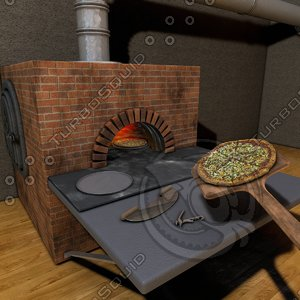 3ds pizza wood oven
