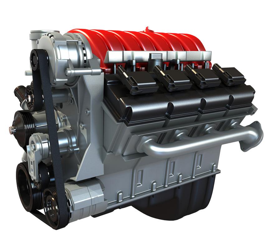 3d car engine model