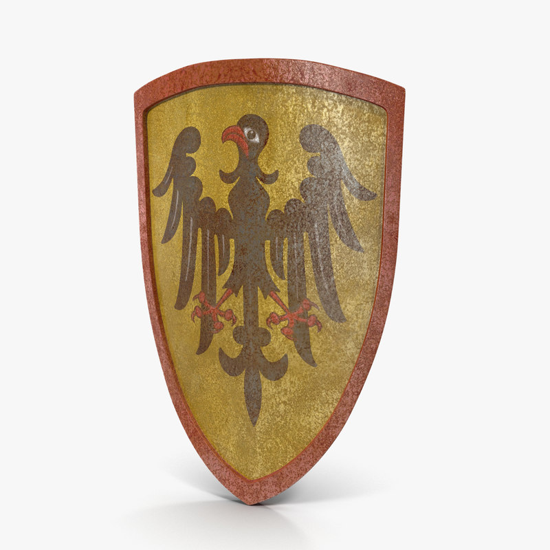 3d european shield imperial coat model