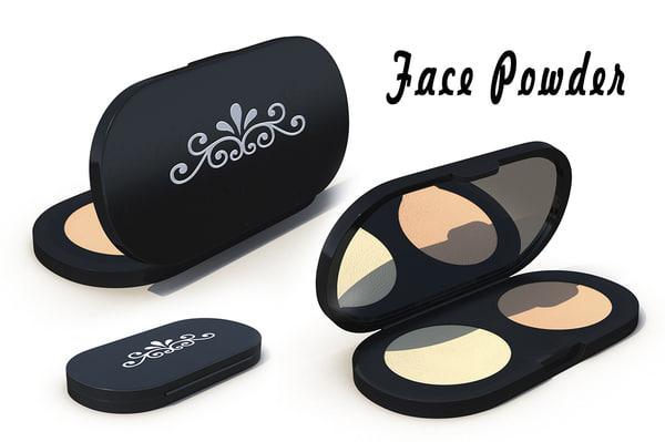 3d model face powder
