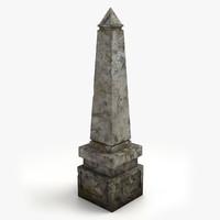 gravestone 2 3d model