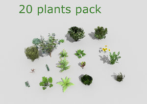 20 plants 3d model