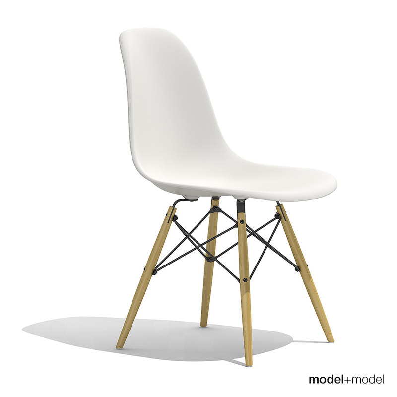 eames plastic chair dsw 3d model. Black Bedroom Furniture Sets. Home Design Ideas