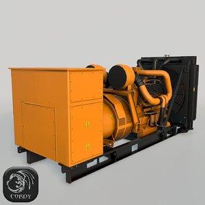 max diesel generator yellow