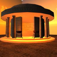 3d model tholos roman temple