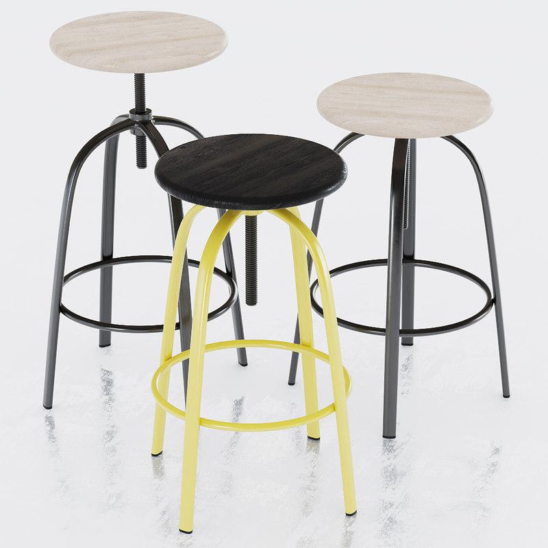 miniforms ferrovitos stool 3d model