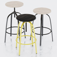 miniforms ferrovitos stool 3d model