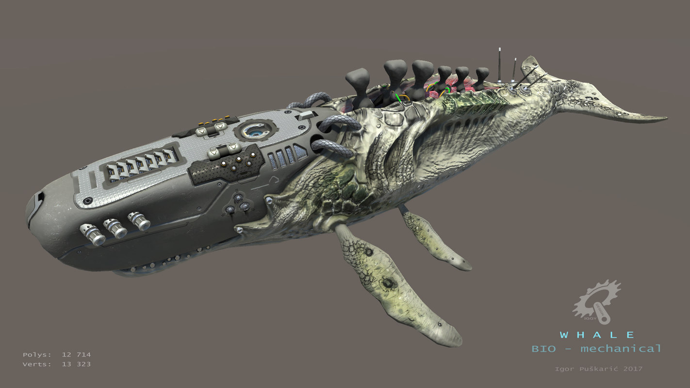biomechanical whale 3ds