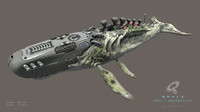 biomechanical whale 3ds