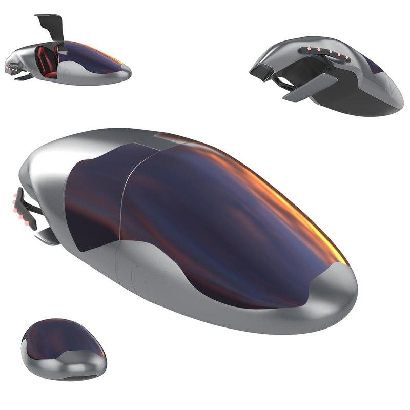 3d model future concept car