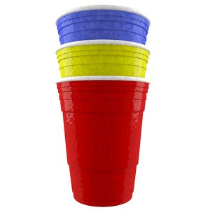 3d model solo cup color