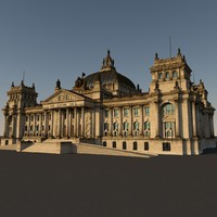 reichstag old version 3d c4d