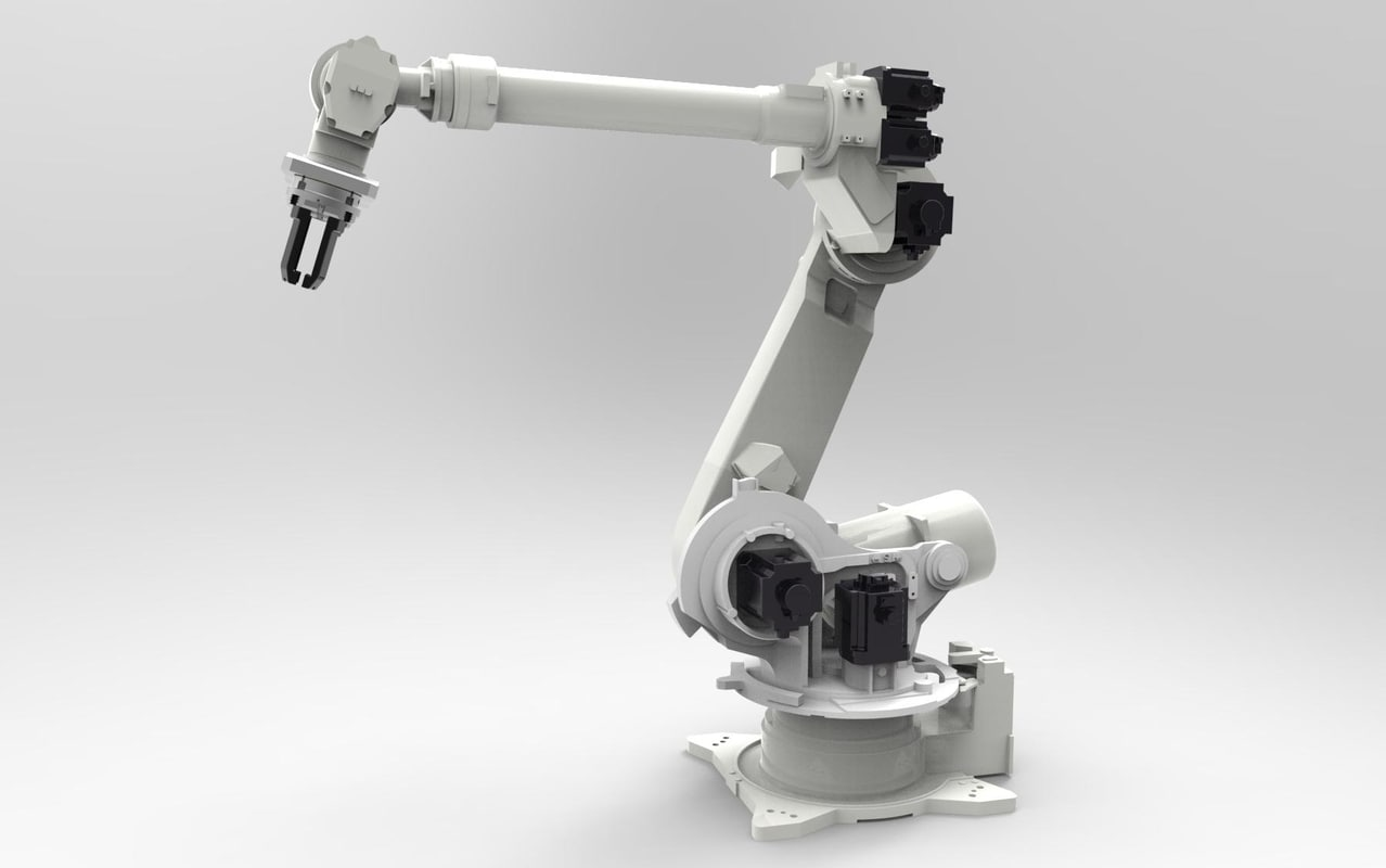 industrial robot arm 4 3d model