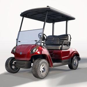 3d yamaha golf cart