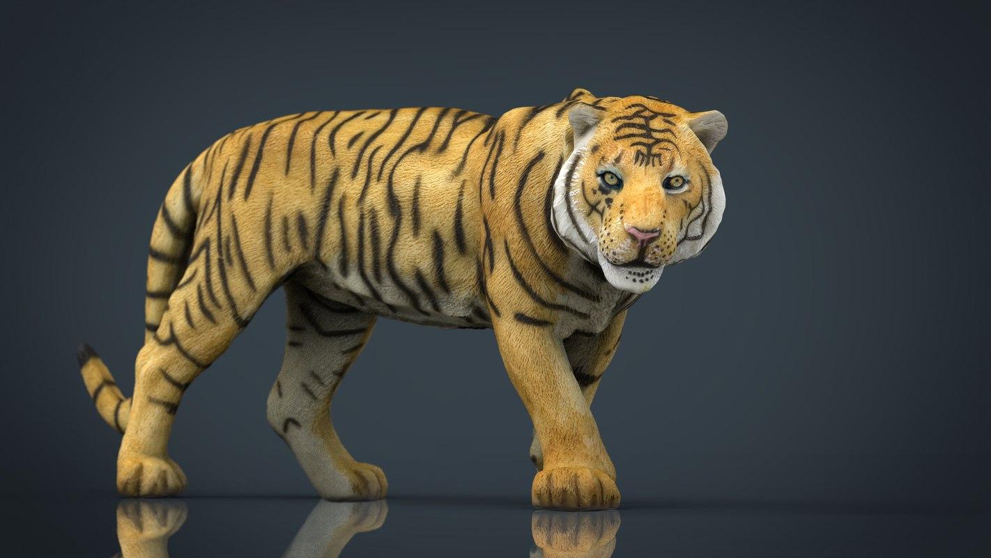 3d tiger stl model