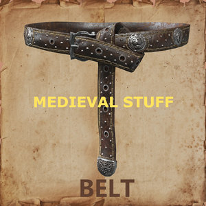 medieval belt obj
