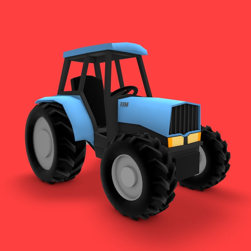 3d 3ds farming tractor