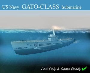 3d model navy submarine class